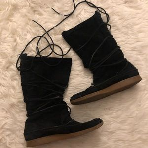 Michael Kors Suede lace up boots, size 7.5